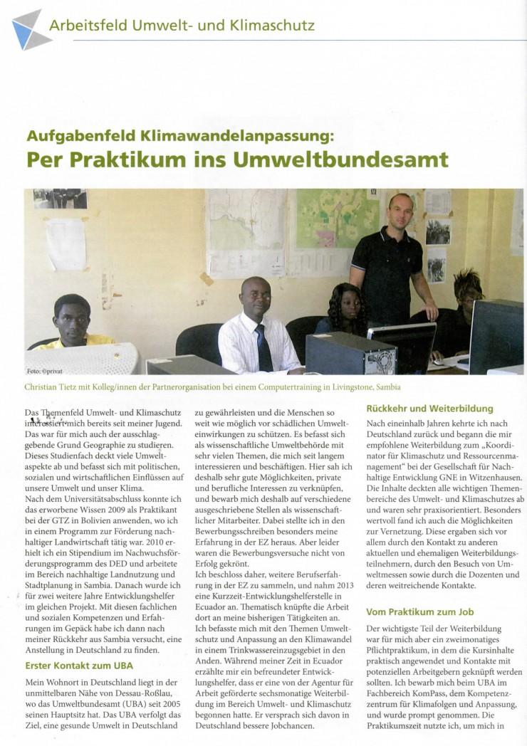 Artikel über Absolvent KUR TN Tietz Christian 2015-10-14
